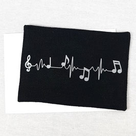 Carte postale tissu Notes de Musique