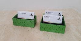 """Visitkartenbox """"Grünschimmer"""""""