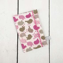 Mutter-Kind-Pass Hülle Vögel rosa