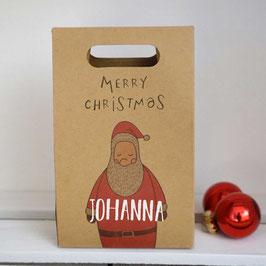 Papierbeutel Weihnachtsmann personalisierbar