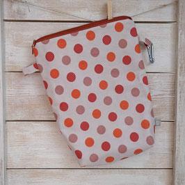 Schwimmbeutel Tupfen rot orange