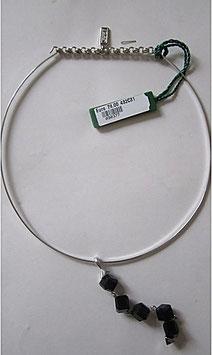 Benetton collana in argento pendente onice