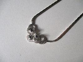 Collana argento con topazi blu