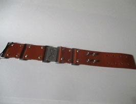 D&G jewels bracciale pelle marrone chiaro e acciaio