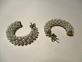 Orecchini in argento placcato oro e perle