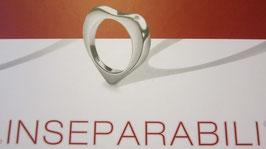 Comete anelli con brillantino a forma di cuore o quadrato AN31