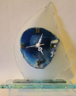 Orologio in vetro di Murano e Agata