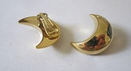 Orecchini a forma di luna placcati oro