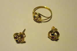 Completo anello e orecchini