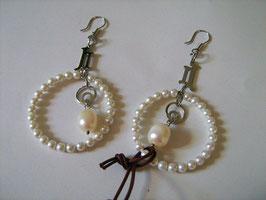 Orecchini Anjel in ACCIAIO e perle