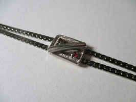 Bracciale stile anni 70 con rubini