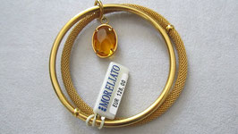 Morellato bracciale rigido acciaio placcato oro