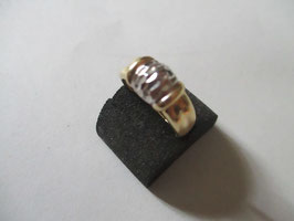 Anello bicolore in oro 14k