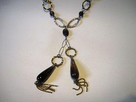 Collana in argento e vetro di Murano