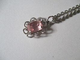 Collana argento con topazio rosa