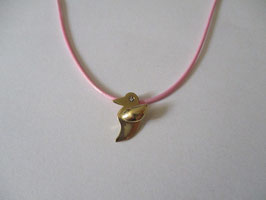 Bird pendant gold and diamond