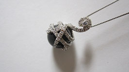 Anjel gioielli Elegante ciondolo in argento e cristalli swarowsly