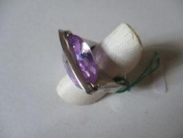 Anello argento topazio viola AN26