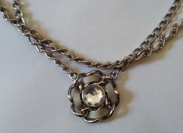D&G jewels collana in pelle e acciaio