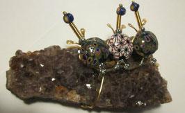 Ely creazioni gruppo di tartarughe su ametista