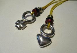 Ciondoli in argento cuore o quadrifoglio