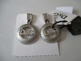 D&G orecchini logo satinati e con zirconi