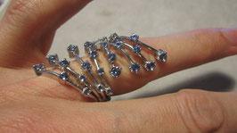 Benetton anello pietre azzurre