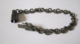 Bracciale argento brunito ad anellini