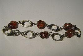 Completo ciondolo + bracciale in argento e quarzo color ambra.