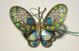 Spilla in filigrana d'argento 925 a forma di farfalla