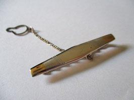 Fermacravatte argento e oro Modello 2