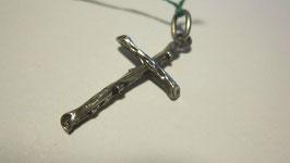 Croce in argento texture legno (cr9)