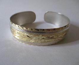 Bracciale in argento motivo ornamentale placcato oro