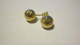 Orecchini in oro a pallina diamantata 1cm