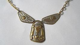 Collana o orecchini in argento 925 placcato e cesellato