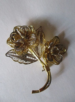 Spilla floreale in filigrana d' argento N2