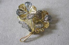 Spilla floreale in filigrana d' argento