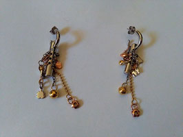 Miss sixty orecchini in acciaio con pendenti
