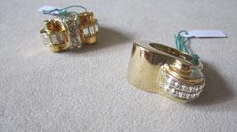 Anelli placcati oro con zirconi AN28
