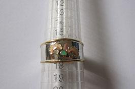 Fedina in argento smaltato e zirconi Fiori n5