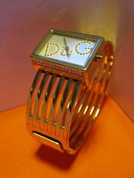 D&G Time orologio bracciale rigido in acciaio placcato oro