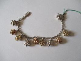 Bracciale o collana fiori 3d in argento