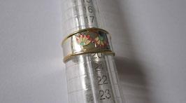 Fedina in argento smaltato Fiori n3