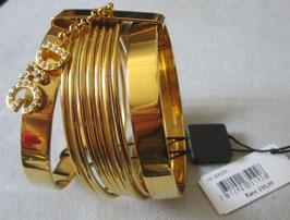 D&G bracciale placcato oro con logo pendente