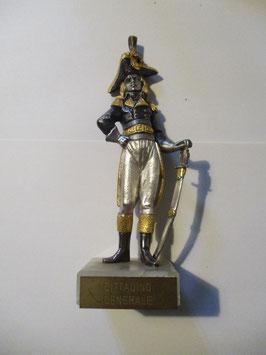 Statuetta argentata e placcata oro in stile napoleonico