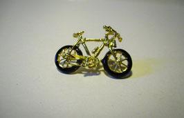Spilla miniatura bicicletta in oro smaltato