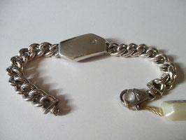 Molecole - Bracciale in argento massiccio e brillantino