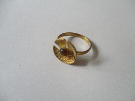 Anello oro realizzato a mano con occhio di tigre