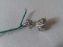 Ciondolo in argento omino con risciò carrozzella