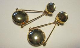 Orecchini argento placcato a forma di pendolo